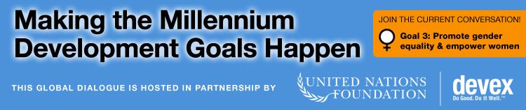 Making the Millennium Development Goals Happen - Join the conversation now!