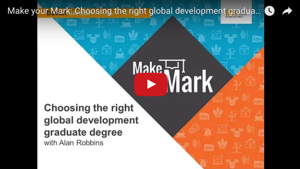 Make your mark: Choosing the right global development graduate program