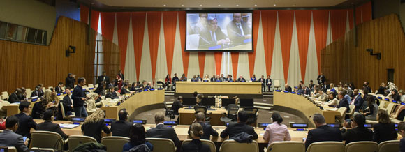 A view of the high-level pledging conference for the United Nations Central Emergency Response Fund