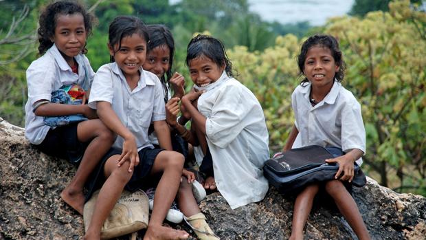 Schoolgirls in East Timor