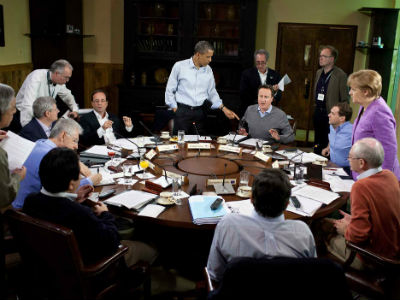 G8 leaders at Camp David in the United States