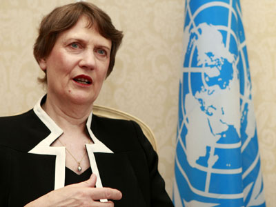 United Nations Development Program Administrator Helen Clark